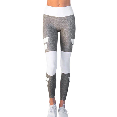 Color Block High Waist Slim Legging