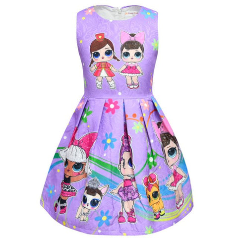 LOL Surprise Dolls Tutu Dress For Girls/Girls Birthday Party Dress