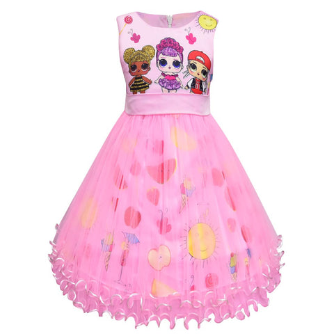 L.O.L. Surprise Dolls Tutu Dress For Girls/Girls Birthday Party Dress