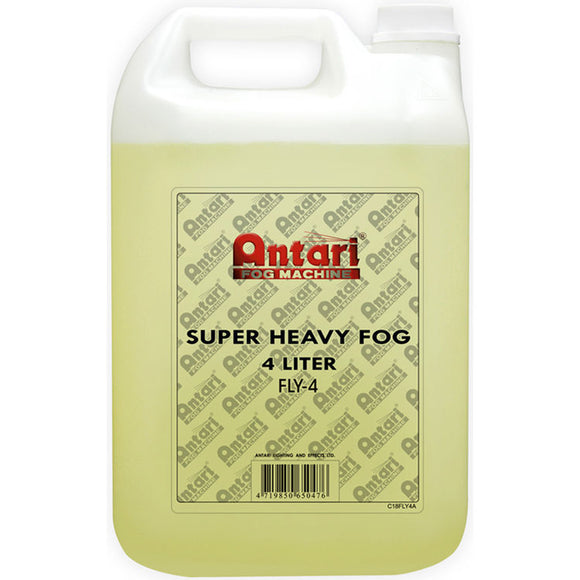 Antari FLY-4 - 4L BOTTLE - SUPER HEAVY FOG FLUID - Guaranteed lowest prices! Call LED @ (407)269-9607