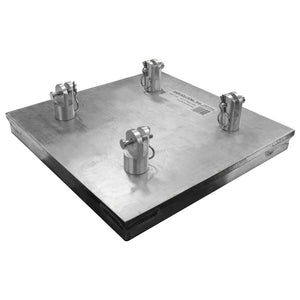 "Show Solutions DPBP1212HD - 12"" X 12"" x 1"" heavy-duty aluminum base plate - Guaranteed lowest prices! Call LED @ (407)269-9607"