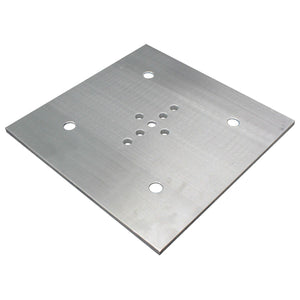 "Show Solutions SPSP12 12"" X 12"" 3/8"" thick Base Plate with center stud holes - Guaranteed lowest prices! Call LED @ (407)269-9607"