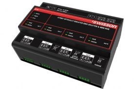 Swisson DIN Rail RDM DMX Splitter ISP-4R-TERM Best price (407)269-9607