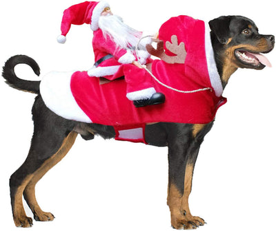 Reindog - Santa Riding Pet Costume