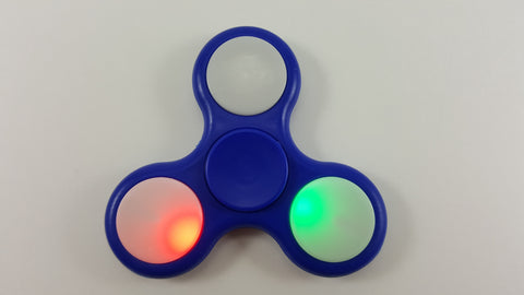 LED Solid Color Plastic Tri-Spinner