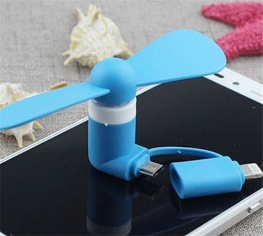 Lightning Portable USB Cooling Mini Fan Cooler iPhone 6 7 8 X XS XR Micro USB