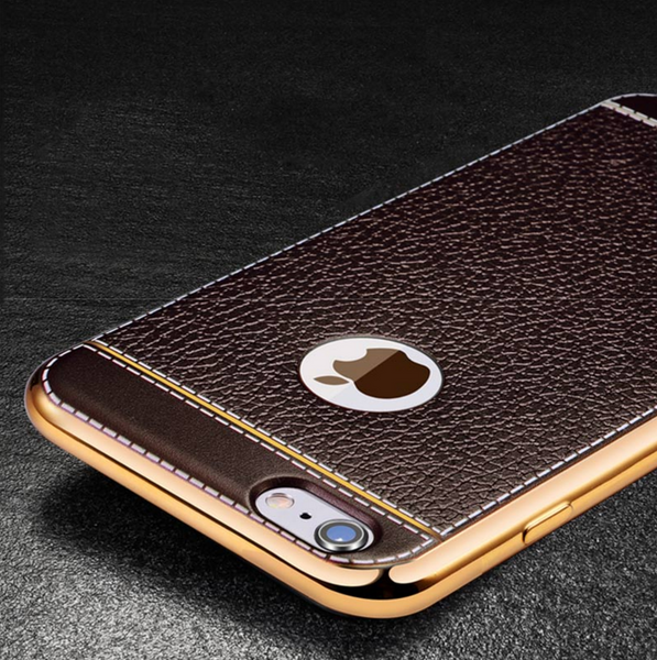 Luxury Gold Leather Case for iPhone 6/6s