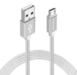 Nylon Braided USB to Micro USB Charging Cable 3 ft. Android Charging Cable