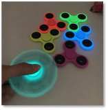 Glow in the Dark Plastic Tri-Spinner