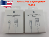 2 Pack Apple USB Lightning Cable iPhone X 6 7 8 Plus XS XS Max Charger 3ft