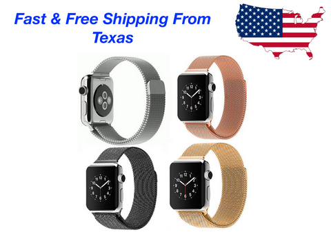 For Apple Watch Magnetic Milanese Loop Band Strap Stainless Steel 38mm 42mm