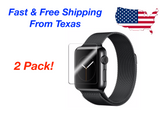 2-PACK Tempered Glass Screen Protector For Apple Watch ( Series 2/3 ) 38mm/42mm