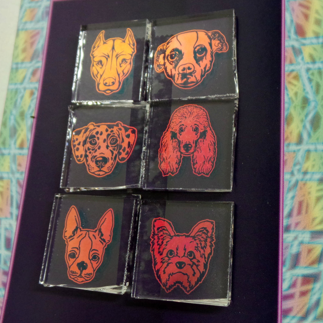 C019 : One of a Kind Dog Mix: Boroimage Themepack COE33 Laser Etched Images for Flameworking
