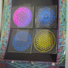 COE 90 - Sacred and Radial Geometry on Clear - Dichroic glass chips for Fusing and Warm Glass Forming