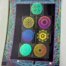 COE 90 - Rainbow Sacred and Radial Geometry on Clear - Dichroic glass chips for Fusing and Warm Glass Forming