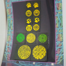 COE 96 - Golden Celtic Mix on Black - Dichroic glass chips for Fusing and Warm Glass Forming