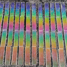 Starship Rainbow dichroic strip pack = Four 1x4 strips