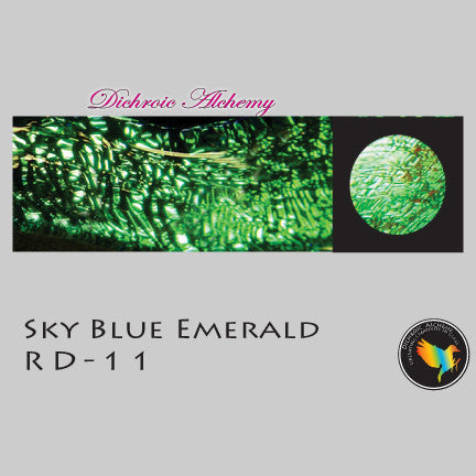 Dichroic Plate Glass: RD11 Sky Blue Emerald 0.125