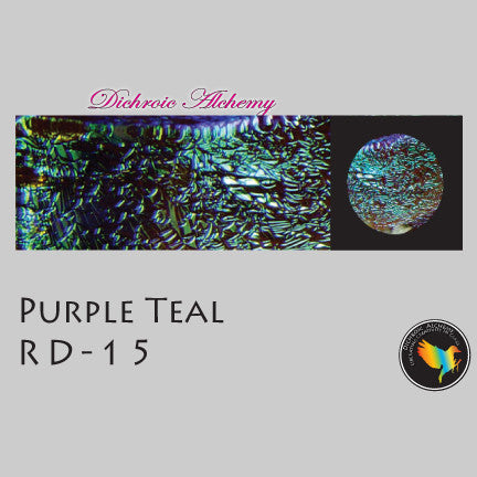Dichroic Plate Glass: RD15 Purple Teal 0.125