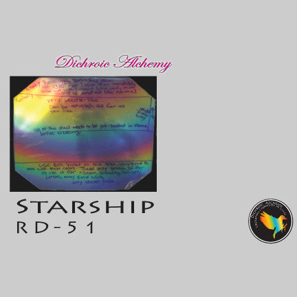 Dichroic Plate Glass: RD51 Starship Rainbow 0.25