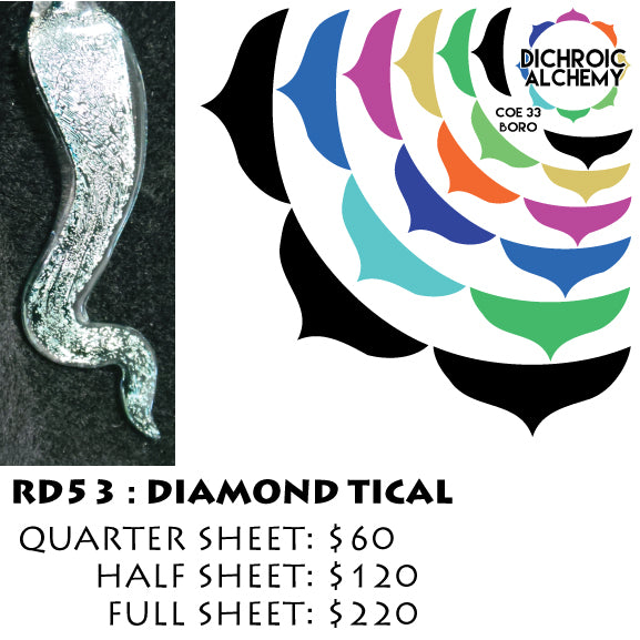 Dichroic Plate Glass: RD53 Diamond Tical 0.125