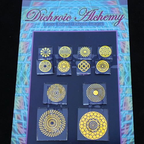 Radial Geometry Mix #1 : Boroimage Themepack COE33 Laser Etched Images for Flameworking