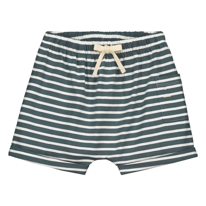 Gray Label Blue Grey Striped Shorts