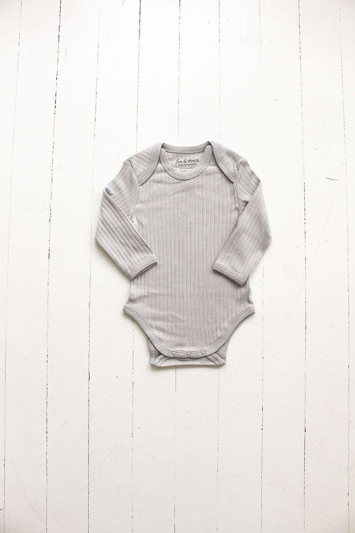 Cloud Ribbed Long Sleeve Onesie
