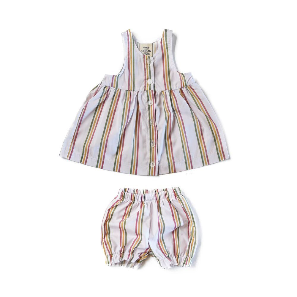 Rainbow Stripe Dress and Bloomer