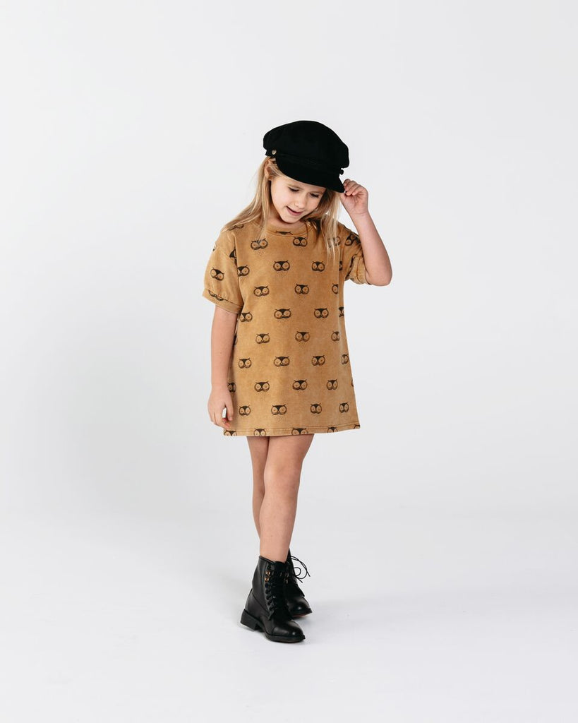 Owls Terry Shirt Dress