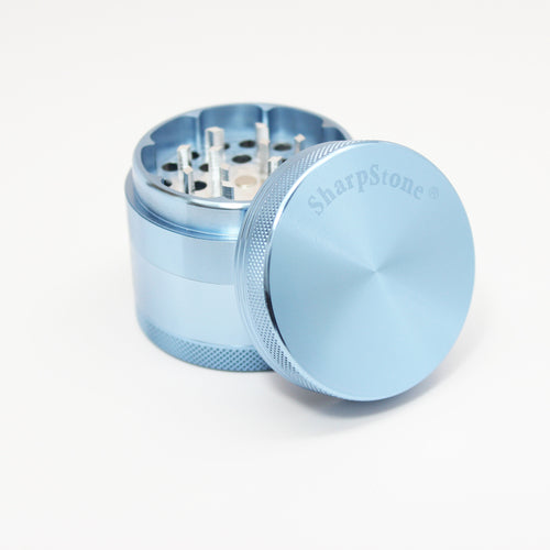 "SharpStone® Hard Top 4 Piece Grinder - 2.2"" Chrome Blue"
