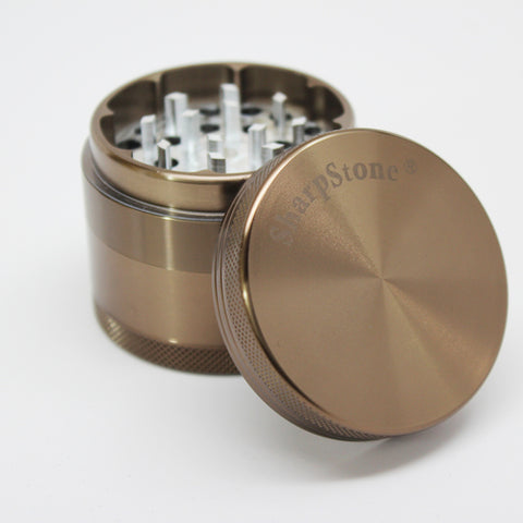 "SharpStone® Hard Top 4 Piece Grinder - 2.2"" Copper Green"