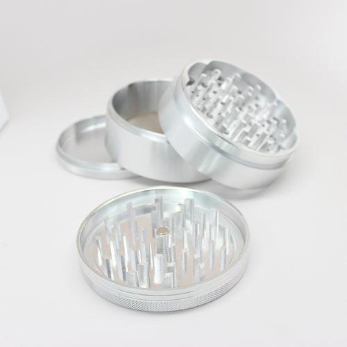"SharpStone® XXL Hard Top 4 Piece Grinder - 3.5"" Silver"