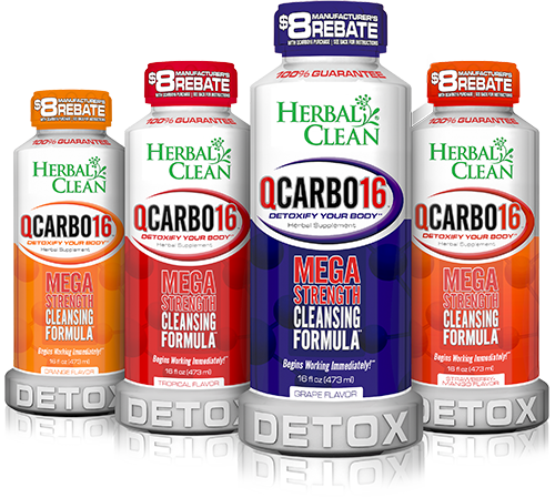 Herbal Clean QCarbo16 Same-Day Detox Drink - 16 oz.