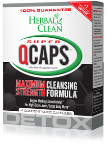 Herbal Clean Super QCaps Maximum Strength Detox - 4 Capsules