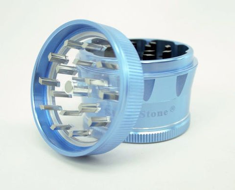 Sharpstone V2 Herb Grinder 2 Inch 4 Pc Clear Top Aluminum Blue