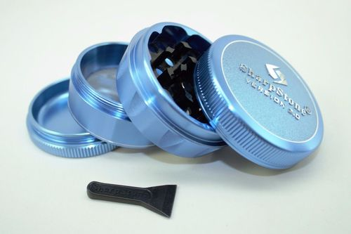 Sharpstone V2 Herb & Tobacco Hard Top Grinder - Blue 2.1""