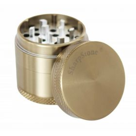 "SharpStone® Hard Top 4 Piece Herb Grinder - 2.2"" Bronze"