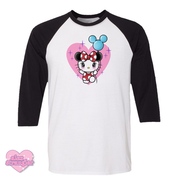Kitty Goes To The Park - Men's/Unisex Raglan