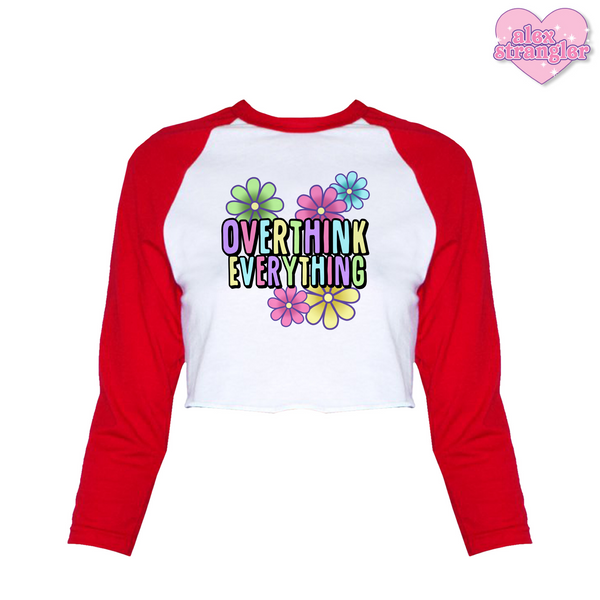 Overthink Everything - Women's Cropped Raglan