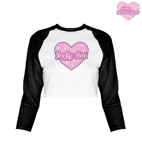 Fugly Slut - Women's Cropped Raglan