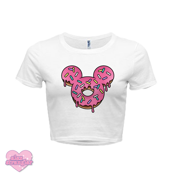 Mr. Donut Mouse - Women's Crop Top
