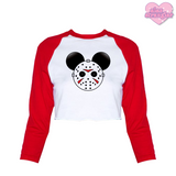 Mr. Murder Mouse - Women's Cropped Raglan