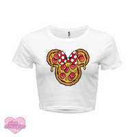 Mrs. Pizza Mouse - Women's Crop Top