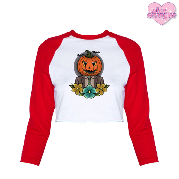 Pumpkin Dwight - Women's Cropped Raglan