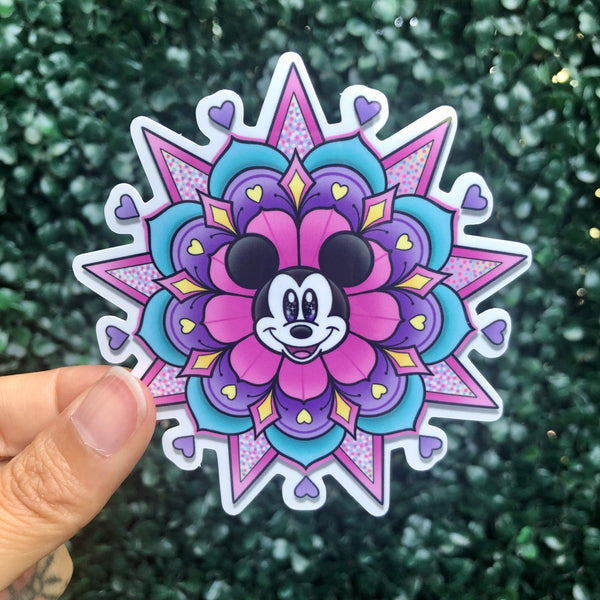 Mouse Geo-Flower - Sticker