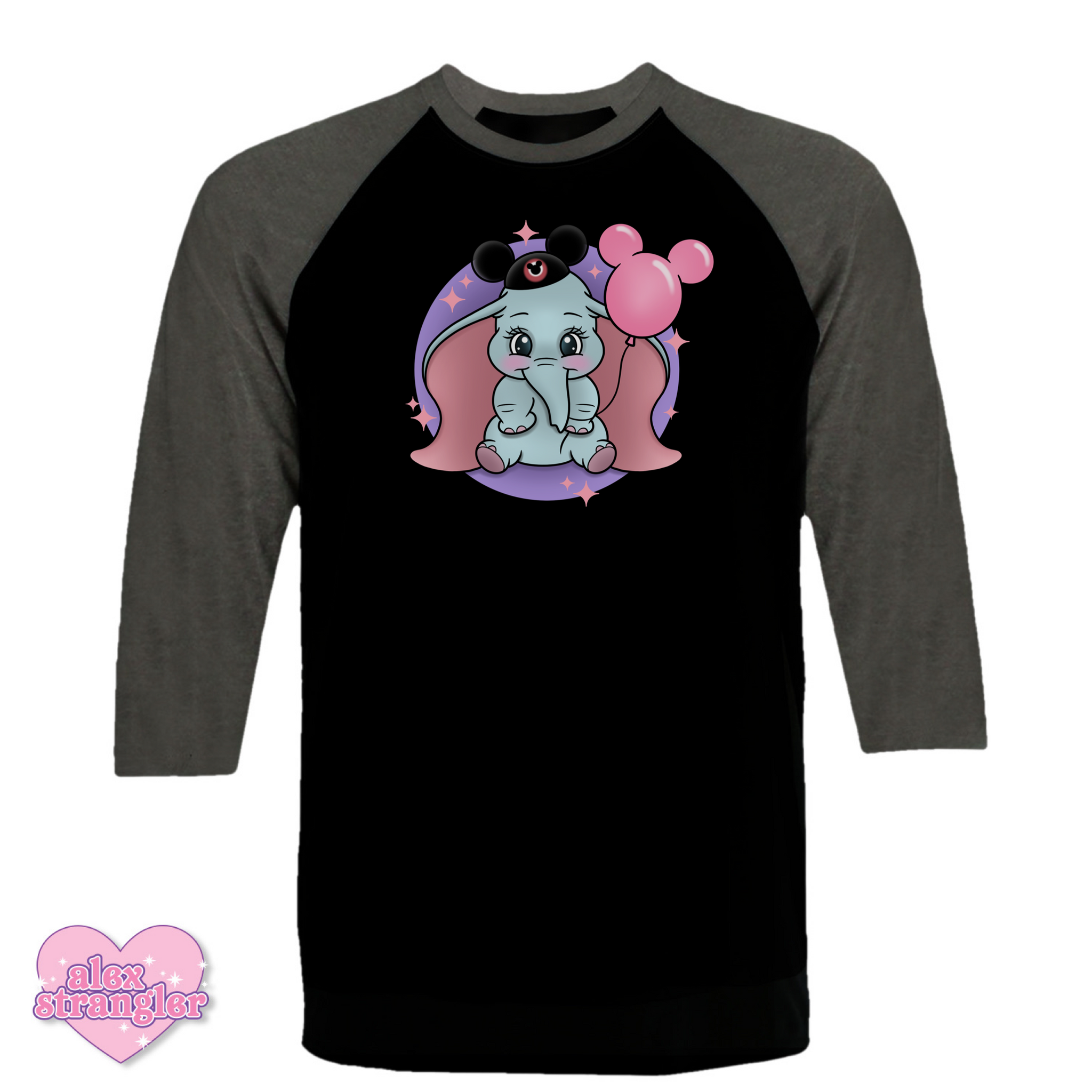 Dumbo Goes To The Park - Men's/Unisex Raglan