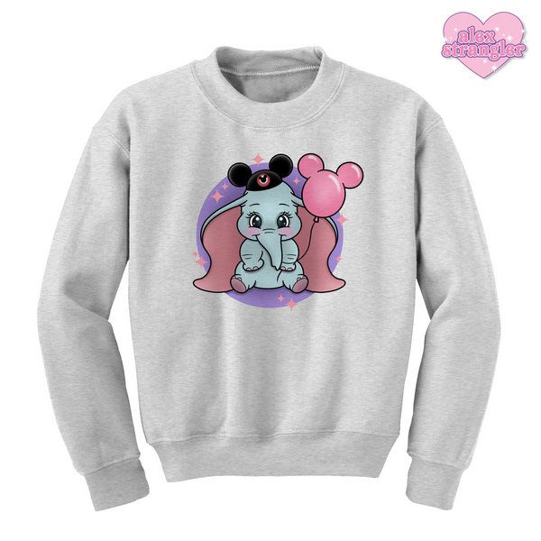 Dumbo Goes To The Park - Unisex Crewneck Sweatshirt