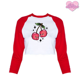 Cherry Babies - Women's Cropped Raglan