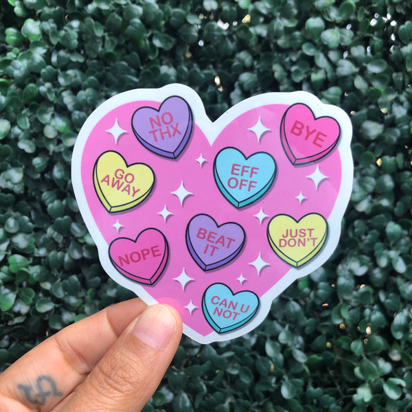 Rude Candy Hearts - Sticker